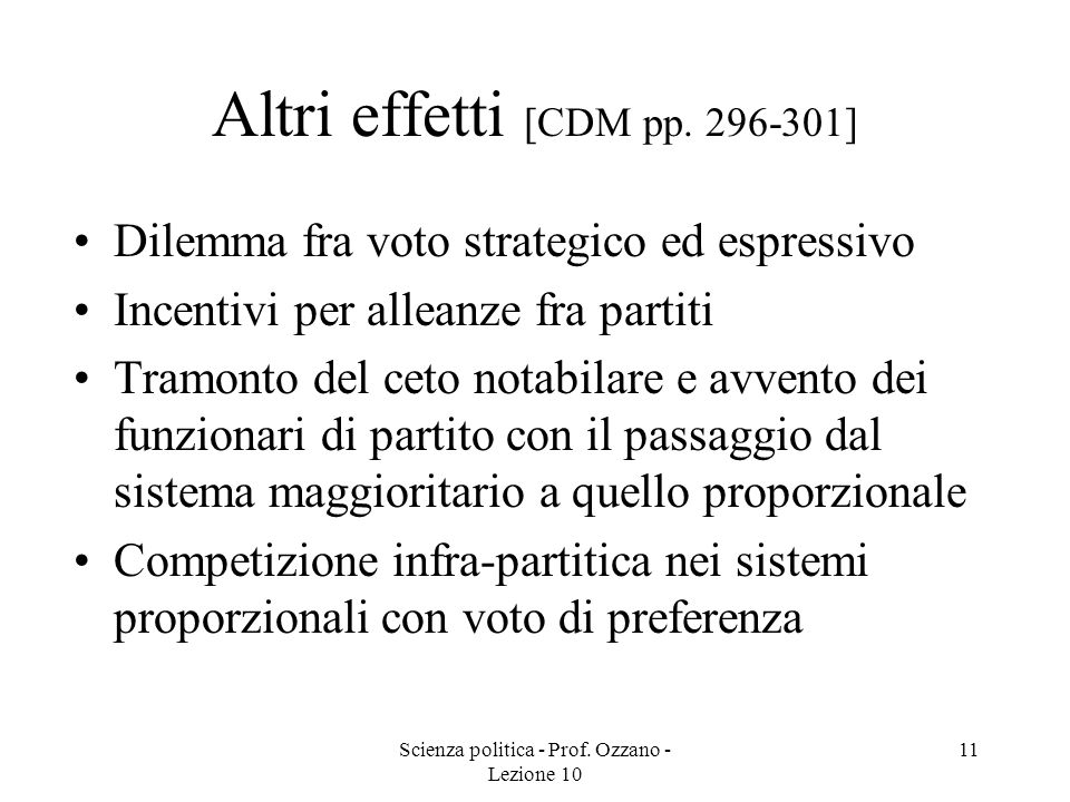 Altri effetti [CDM pp. 296-301]
